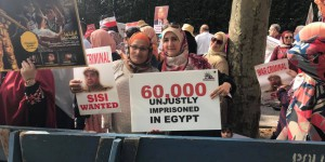 New York'ta Sisi Protestosu
